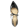 Leather pumps with straps across instep insolia, black , 728-6641 - 19