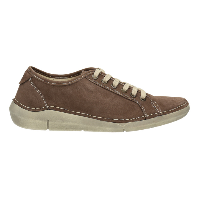 Casual leather shoes for ladies weinbrenner, brown , 546-4603 - 15