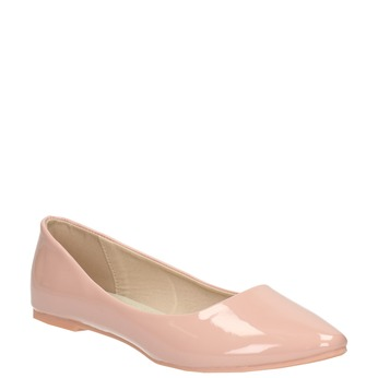 Ladies' patent-leather ballerinas bata, pink , 521-5602 - 13