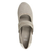 Leather pumps width H bata, gray , 623-2600 - 15