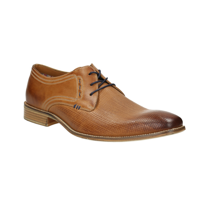 Leather Derby shoes bata, brown , 826-3802 - 13