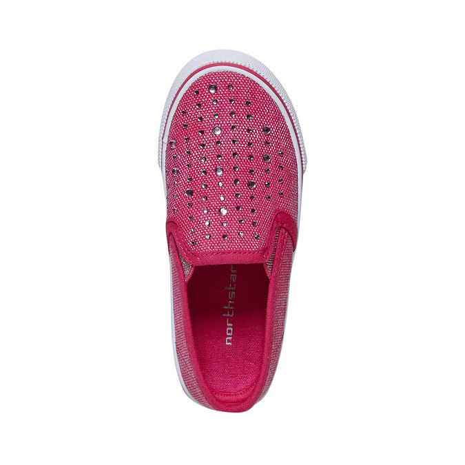 Girls' slip-on shoes with rhinestones north-star, pink , 229-5193 - 19