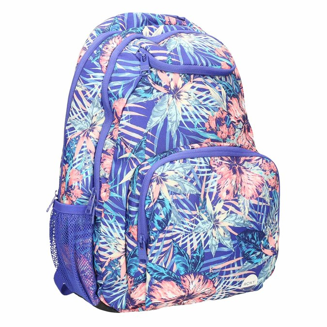 Backpack with coloured pattern roxy, violet , 969-9071 - 13