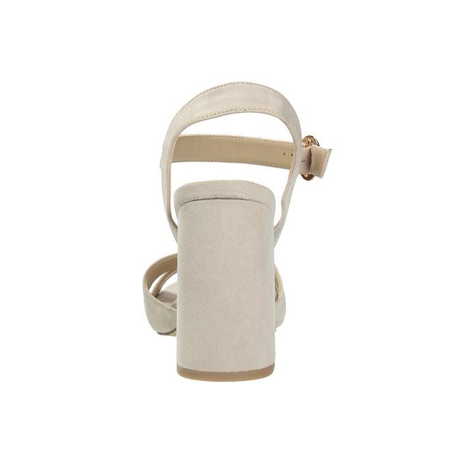 Ladies' sandals with a massive heel bata, beige , 769-8602 - 17
