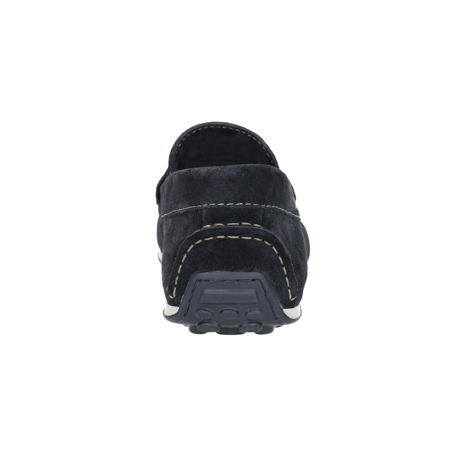 Brushed leather moccasins bata, blue , 853-9614 - 17
