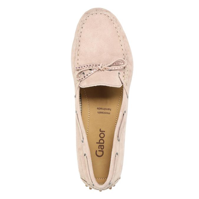 Ladies' leather moccasins gabor, pink , 613-5014 - 19