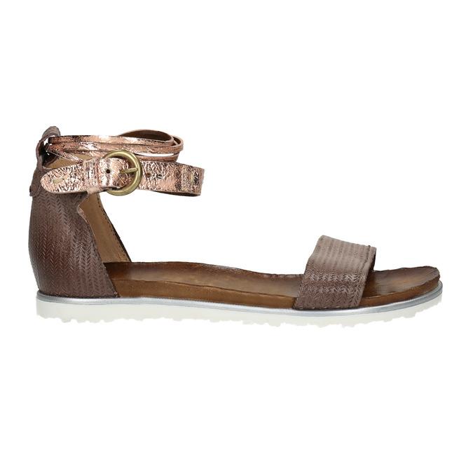 Ladies' leather sandals bata, brown , 566-4603 - 15