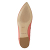Pointed leather ballet pumps bata, pink , 524-0604 - 19