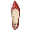 Red leather ballet pumps bata, red , 524-5604 - 26