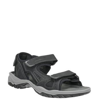 Men's leather sandals weinbrenner, black , 866-6630 - 13