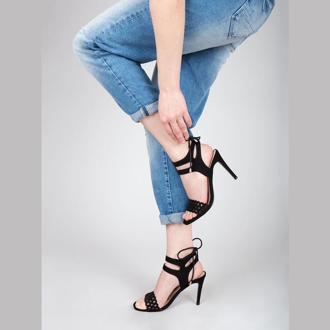Black stiletto sandals bata, black , 769-6603 - 18