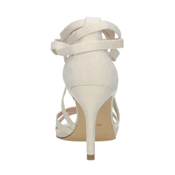 Heeled lace-up sandals insolia, beige , 769-1613 - 17