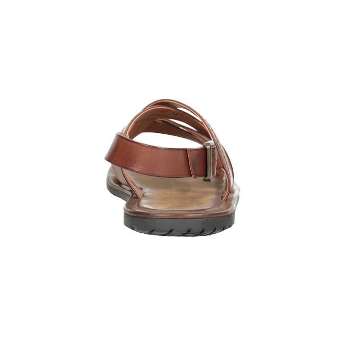 Men's brown leather sandals bata, brown , 866-3602 - 15