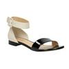 Patent leather sandals bata, black , 568-6606 - 13