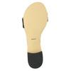 Patent leather sandals bata, black , 568-6606 - 26