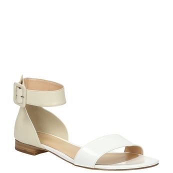 Ladies' leather sandals bata, white , 568-1606 - 13
