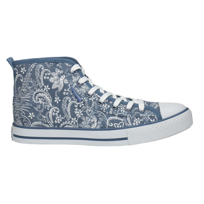 Ladies' patterned ankle sneakers north-star, blue , 589-9442 - 15
