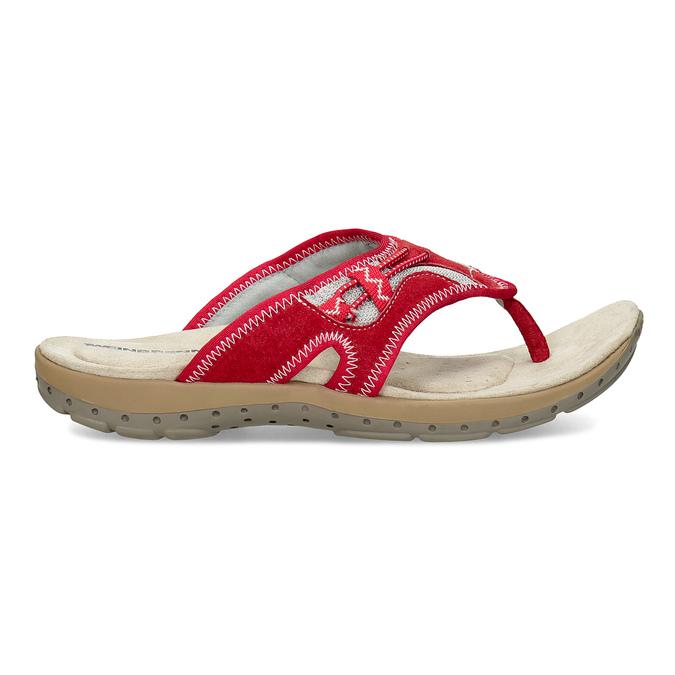 Ladies' flip-flops with a distinctive sole weinbrenner, red , 566-5611 - 19