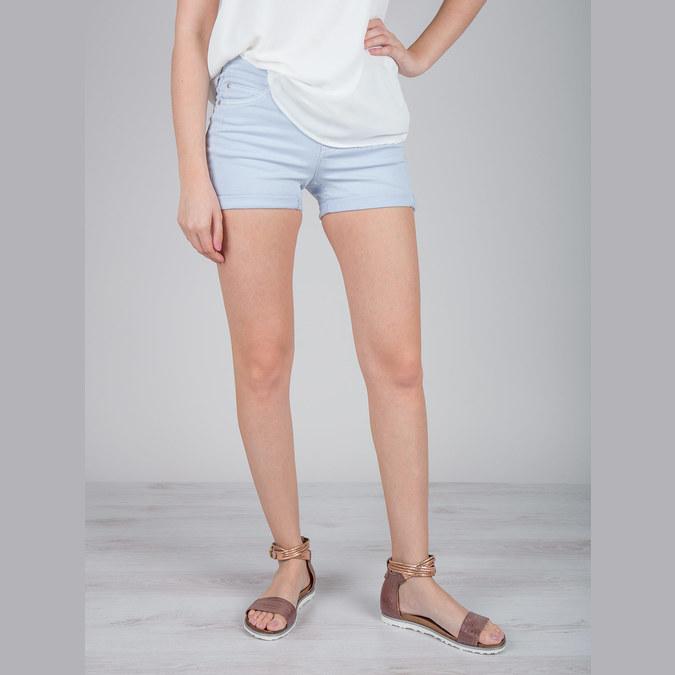 Ladies' leather sandals bata, brown , 566-4603 - 18