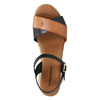 Ladies' sandals with distinctive sole weinbrenner, black , 566-6626 - 19