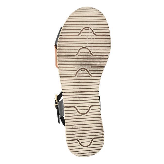 Ladies' sandals with distinctive sole weinbrenner, black , 566-6626 - 26