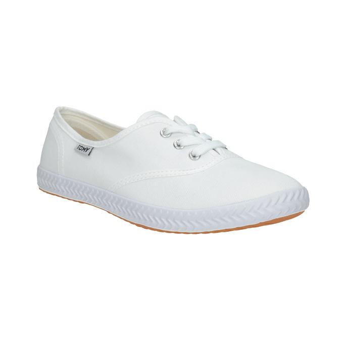Ladies' white sneakers tomy-takkies, white , 589-1180 - 13