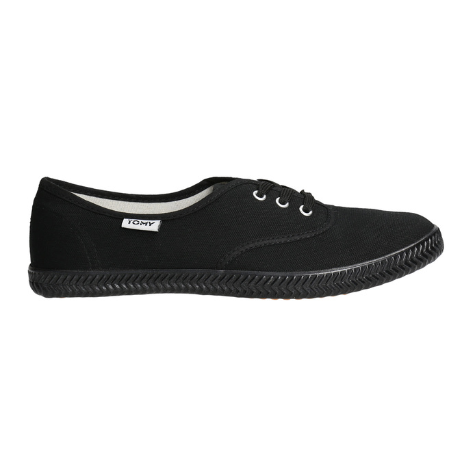 Ladies' black sneakers tomy-takkies, black , 589-6180 - 15