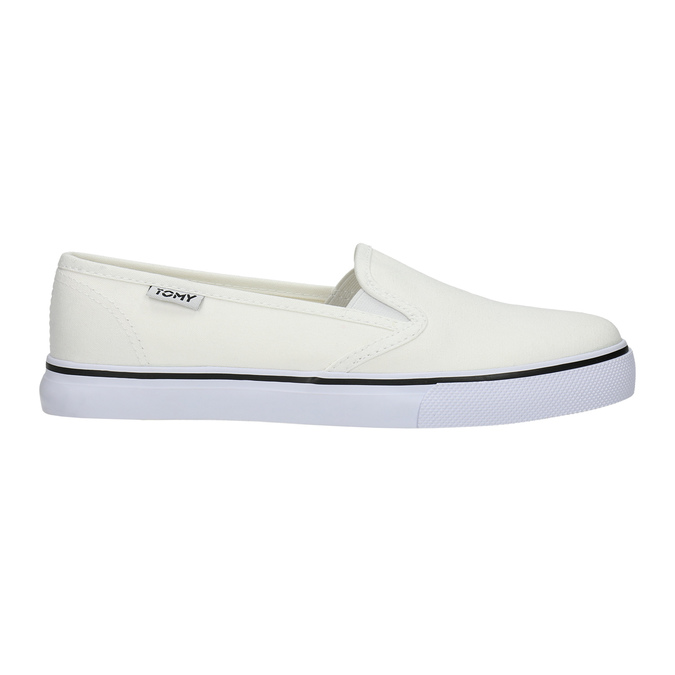 Ladies' slip-ons tomy-takkies, white , 589-1171 - 15