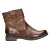 Western-style leather ankle boots bata, brown , 594-4611 - 15