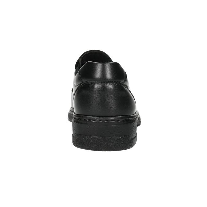 Men's leather moccasins pinosos, black , 814-6622 - 17
