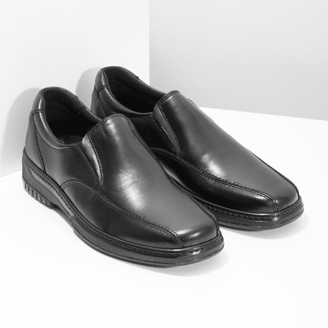 Men's leather moccasins pinosos, black , 814-6622 - 26