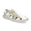 Men's leather sandals bata, white , 866-1622 - 13