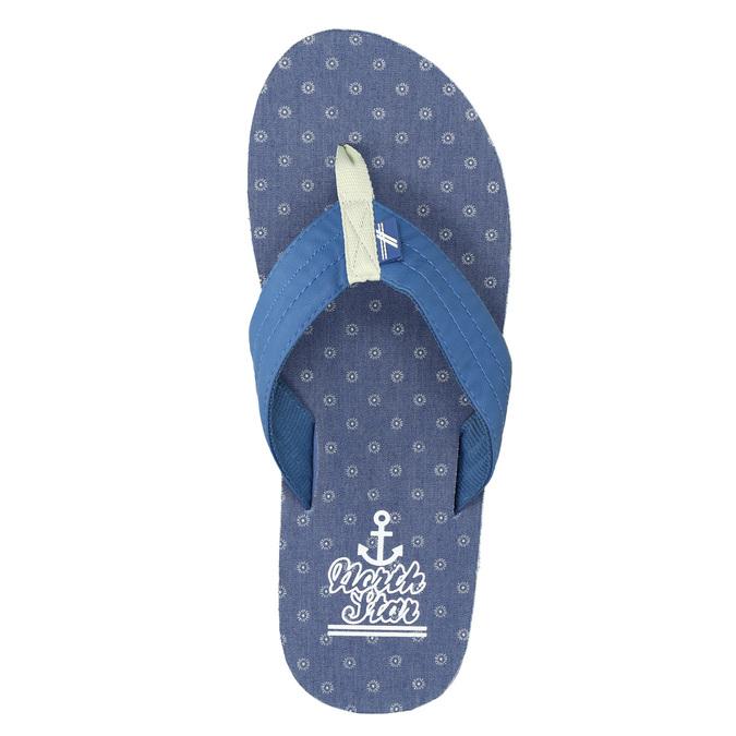 Men's blue flip-flops north-star, blue , 871-9616 - 26