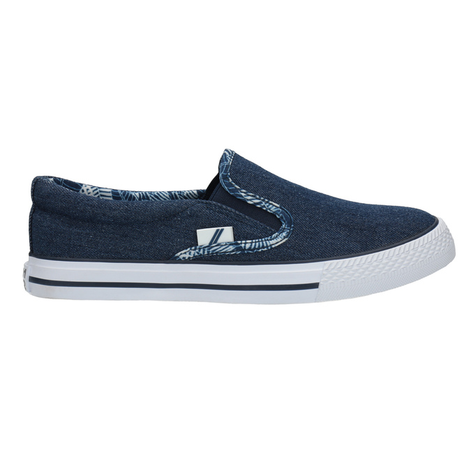 Ladies' denim slip-ons north-star, blue , 589-9440 - 15