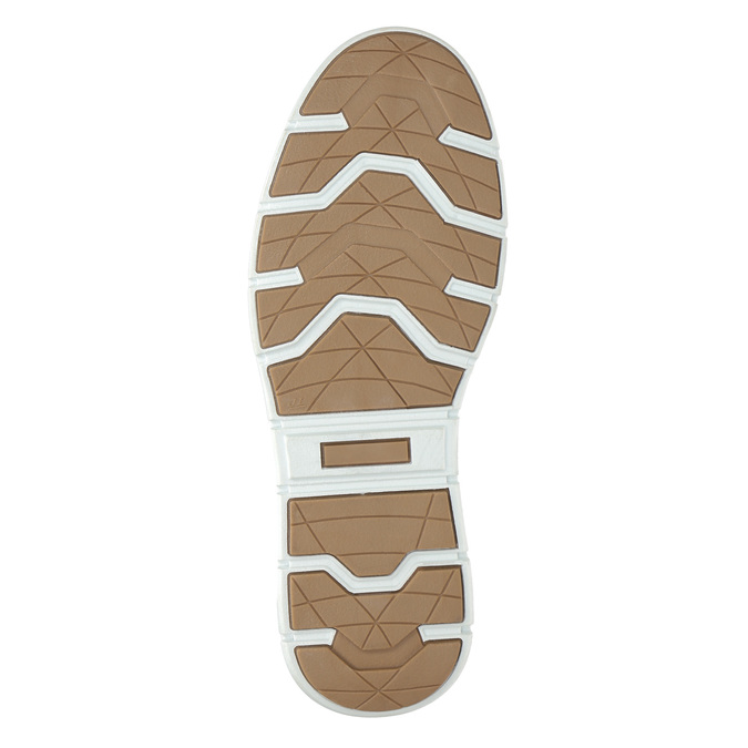 Men's leather high-top sneakers bata, black , 846-6641 - 19