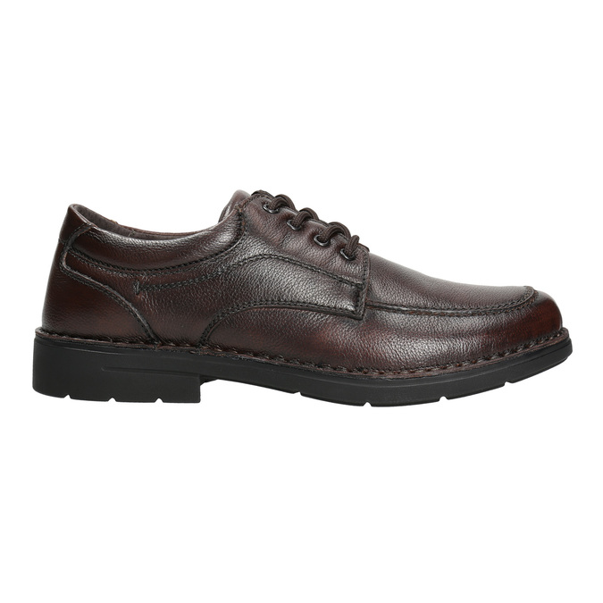 Men's casual shoes with stitching, brown , 824-4987 - 15