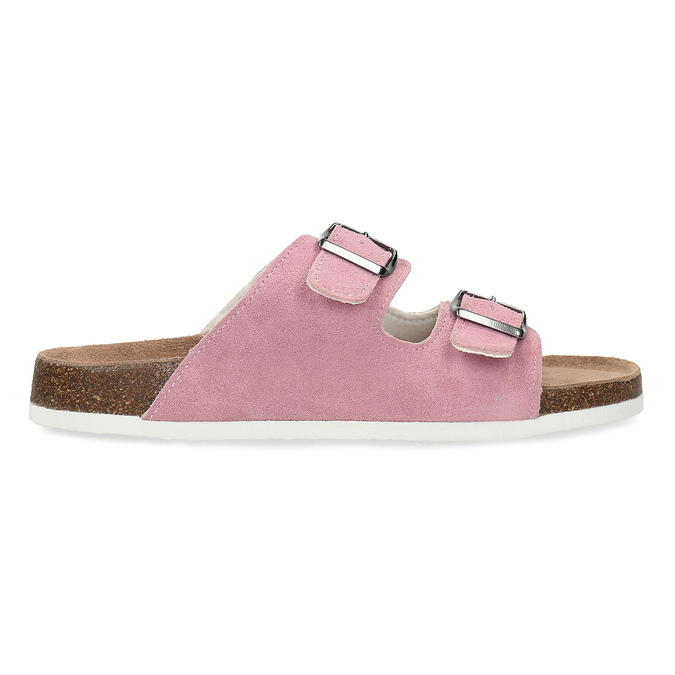 Ladies' leather sandals, pink , 573-5621 - 19