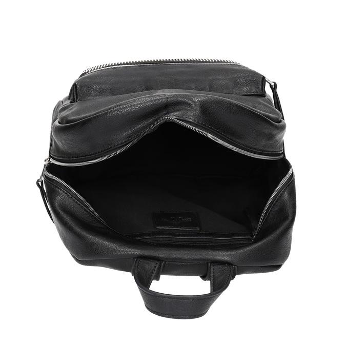 Black backpack with rhinestones bata, black , 961-6855 - 15