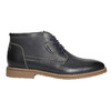 Men's ankle boots with stitching bata, black , 826-6614 - 15