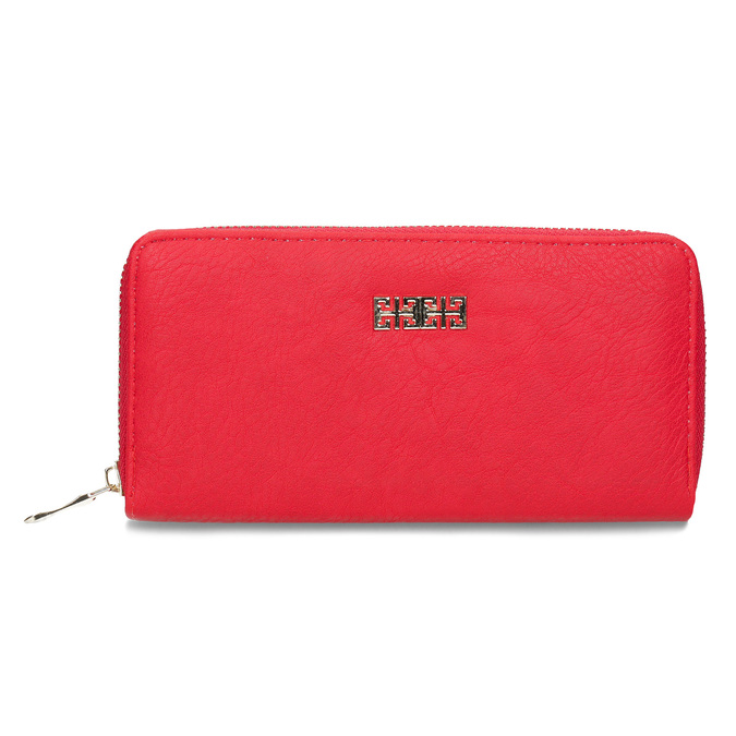 Red ladies' wallet bata, red , 941-5180 - 26