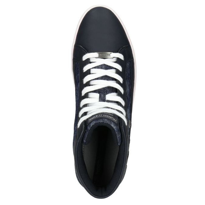 Hi-tops with denim details north-star, blue , 841-9609 - 26