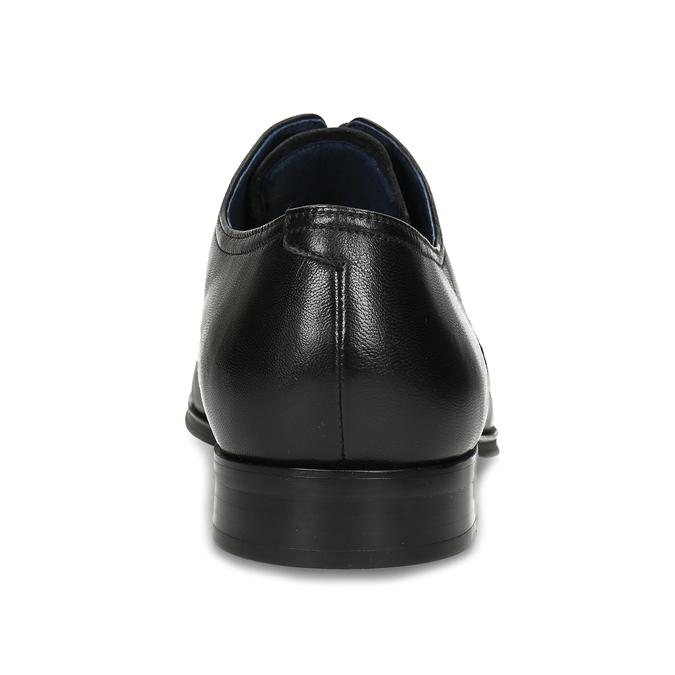 Men's leather Derby shoes, black , 824-6406 - 15