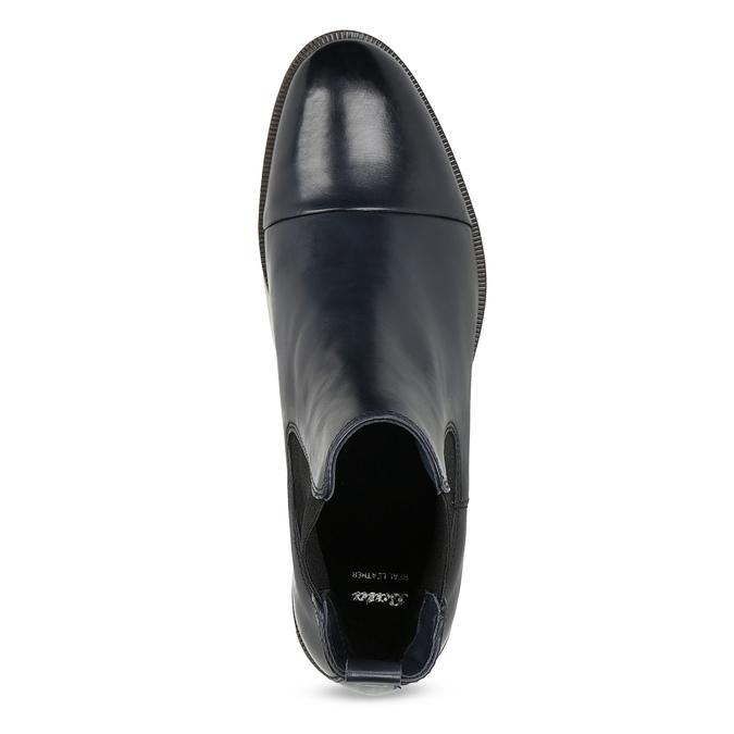 Ladies' leather Chelsea boots bata, black , 594-9636 - 17