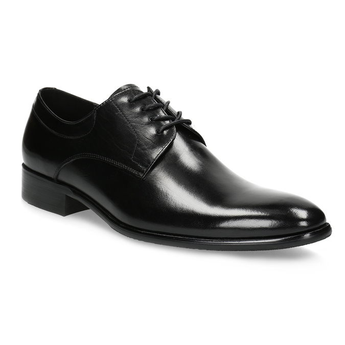 Men's leather Derby shoes bata, black , 824-6233 - 13