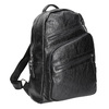 Backpack with zips bata, black , 961-6516 - 13