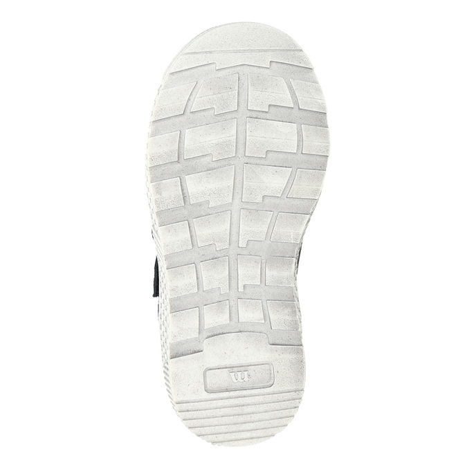 Leather high-top sneakers mini-b, blue , 214-9203 - 17