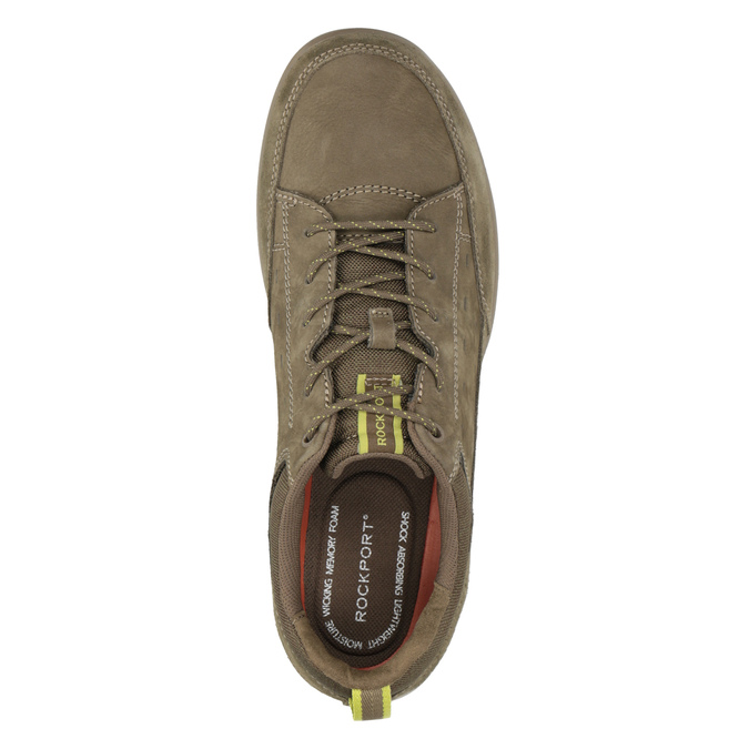 Casual Brushed Leather Sneakers rockport, brown , 826-3021 - 15