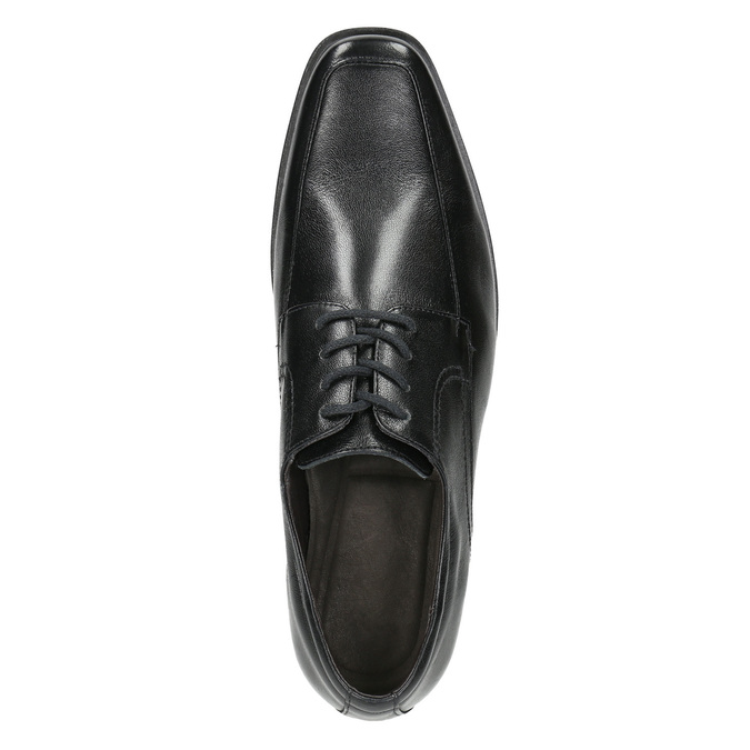 Black leather shoes bata, black , 824-6600 - 26