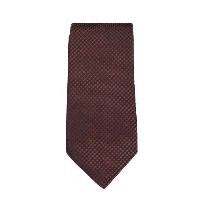 Patterned Tie and Handkerchief Set bata, red , 999-5292 - 26