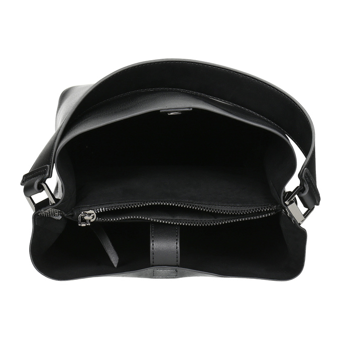 Black ladies Hobo handbag, black , 961-2173 - 15